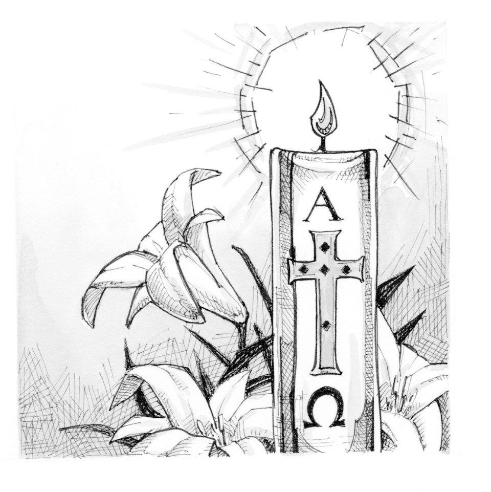 Signs And Symbols  Paschal Candle   Saint Mary S Press