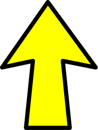 Yellow Up    Signs Symbol Arrows Arrows Color Arrow Outline Yellow Up