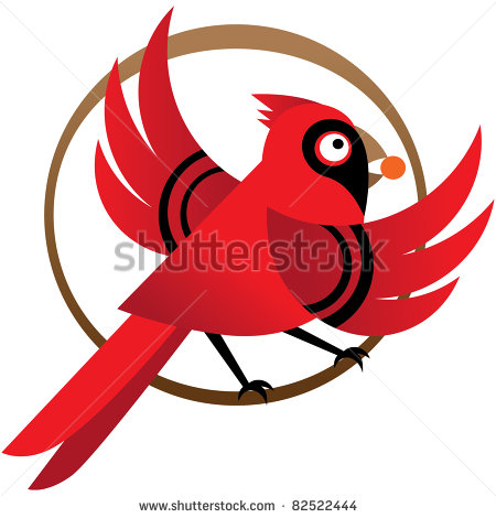 Cardinal And Red Berries Stock Photos Illustrations And Vector Art