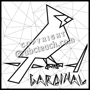 Clip Art  Cardinal B W   Preview 1