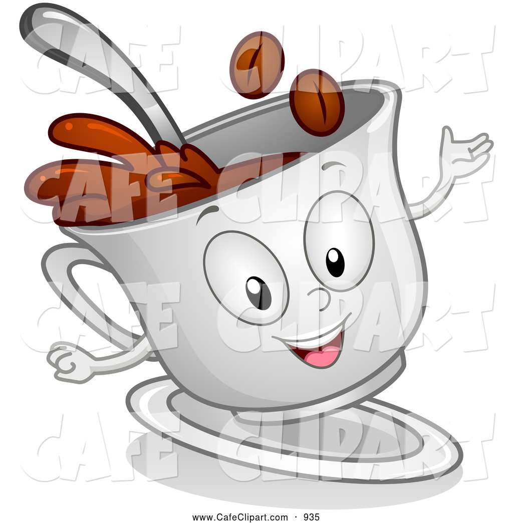 Coffee Cup Character Clip Art