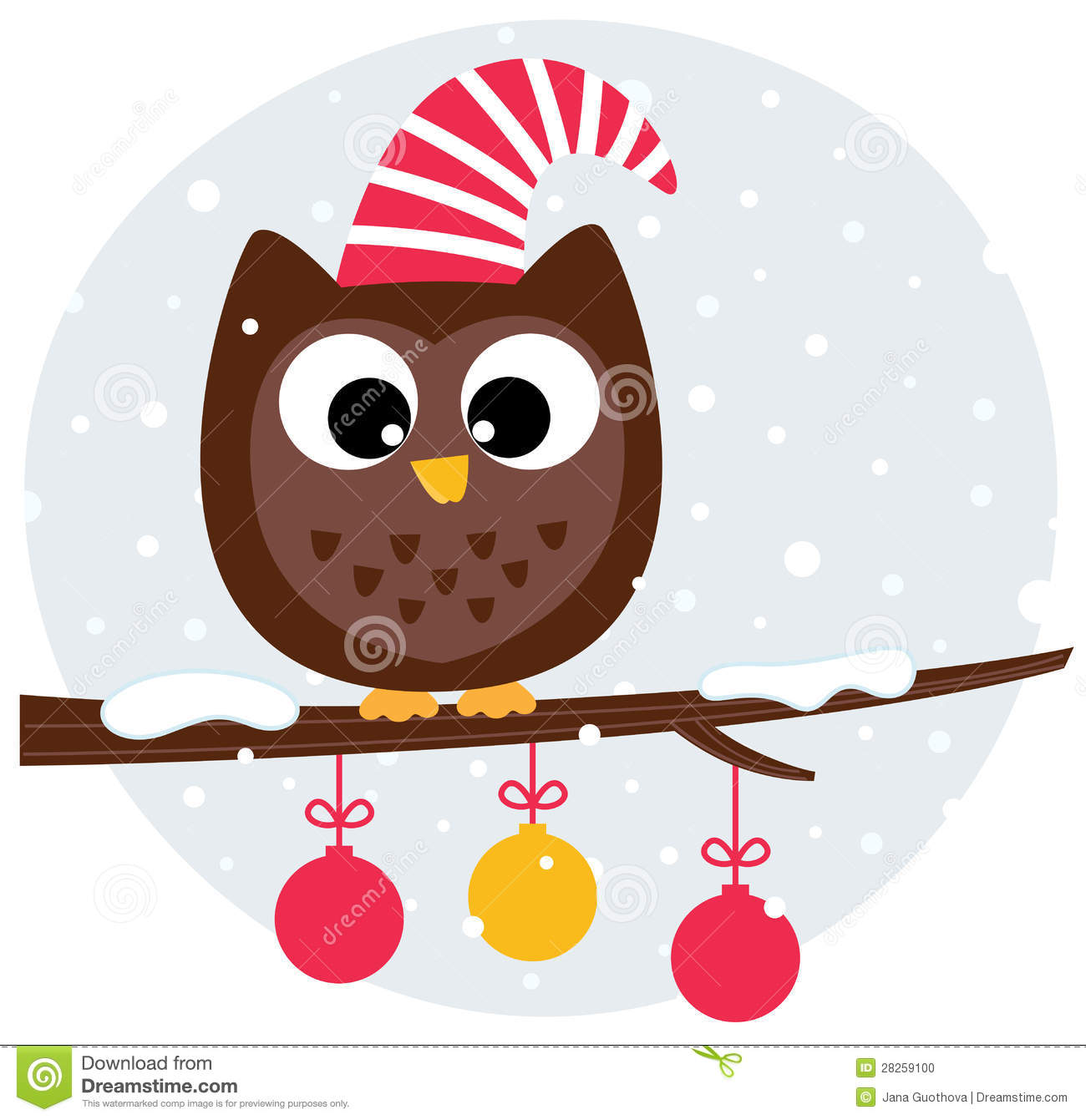 Clip Art Christmas Owl Clip Art cute christmas owl clipart kid sitting on the branch stock photo image 28259100