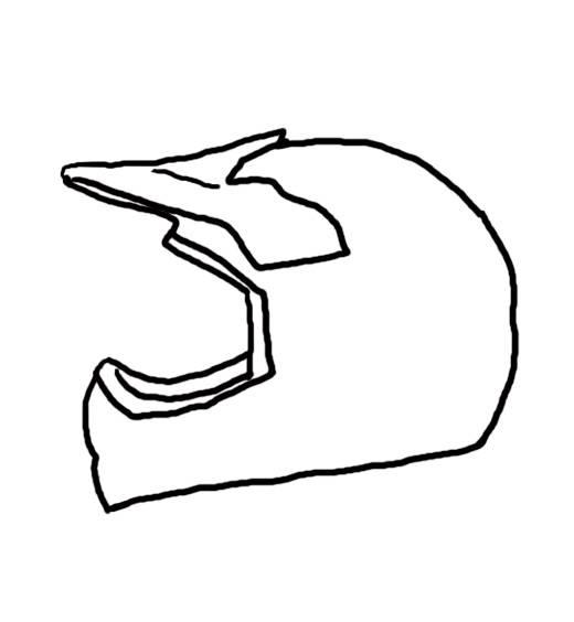 dirt bike helmet coloring pages - photo#19