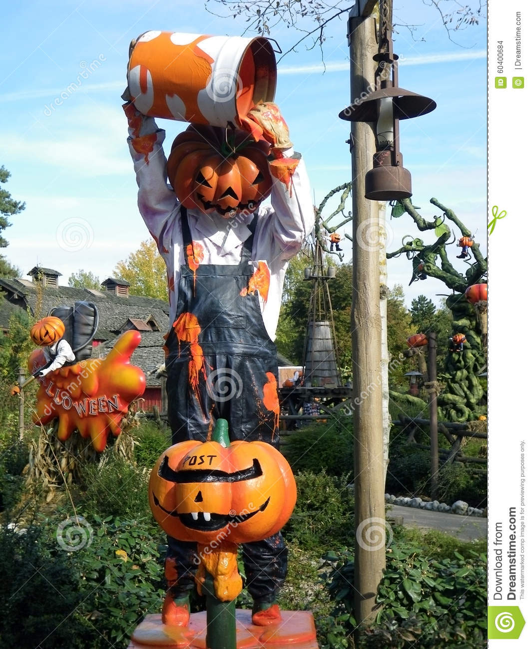 Disneyland Paris Halloween Pumpkins Stock Photo   Image  60400684