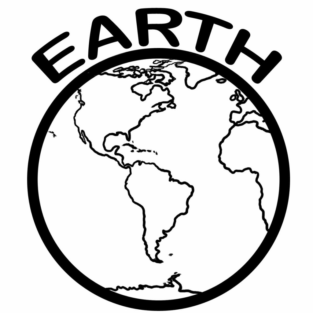 Earth Coloring Pages Printable   Clipart Panda   Free Clipart Images