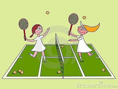 Playing Tennis Clipart - Clipart Kid