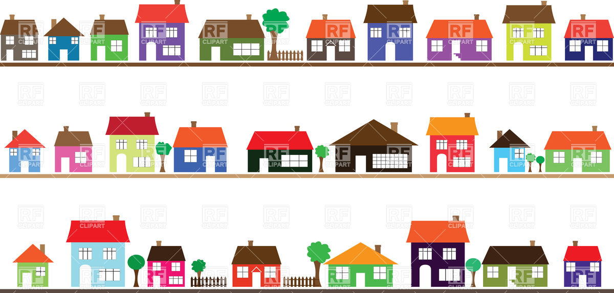 Street of Houses Clip Art – Clipart Download