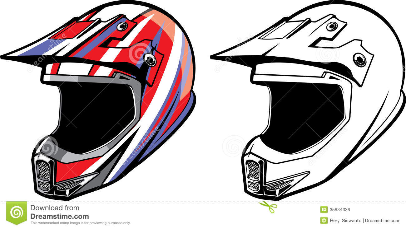 Dirt Bike Helmet Clipart - Clipart Suggest