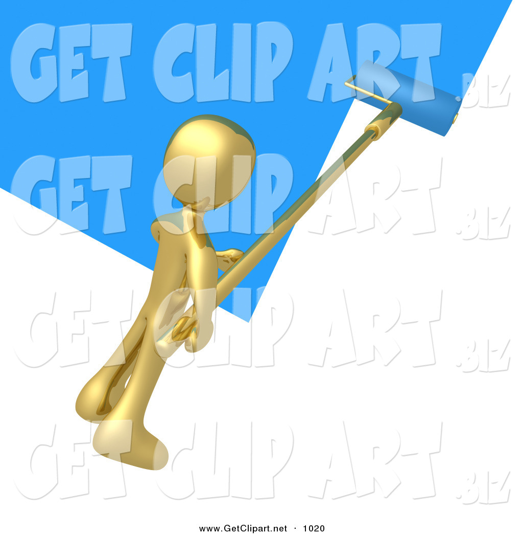 new online apply clipart clipart kid person using a roller to apply blue paint to a white wall by 3pod