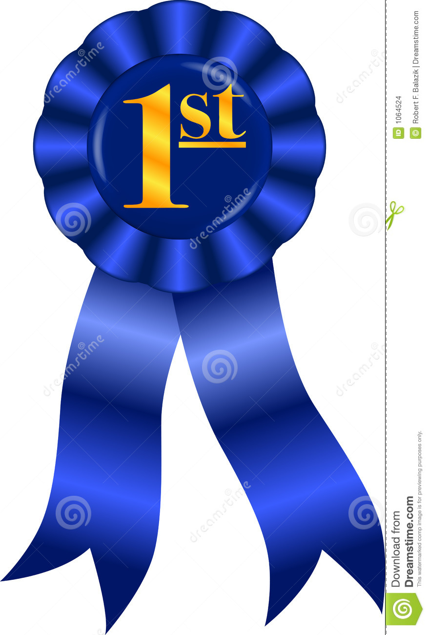Raster Graphic Depicting A Blue Ribbon Award