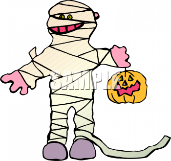 Royalty Free Halloween Mummy Clipart