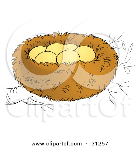 Royalty Free  Rf  Egg Nest Clipart Illustrations Vector Graphics  1