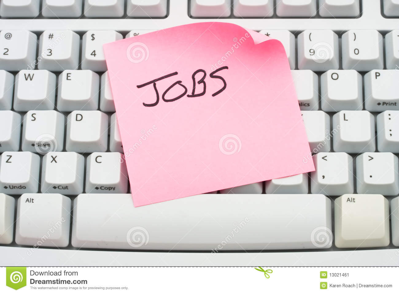 Saying Jobs Sitting On A Computer Keyboard Apply For Jobs Online