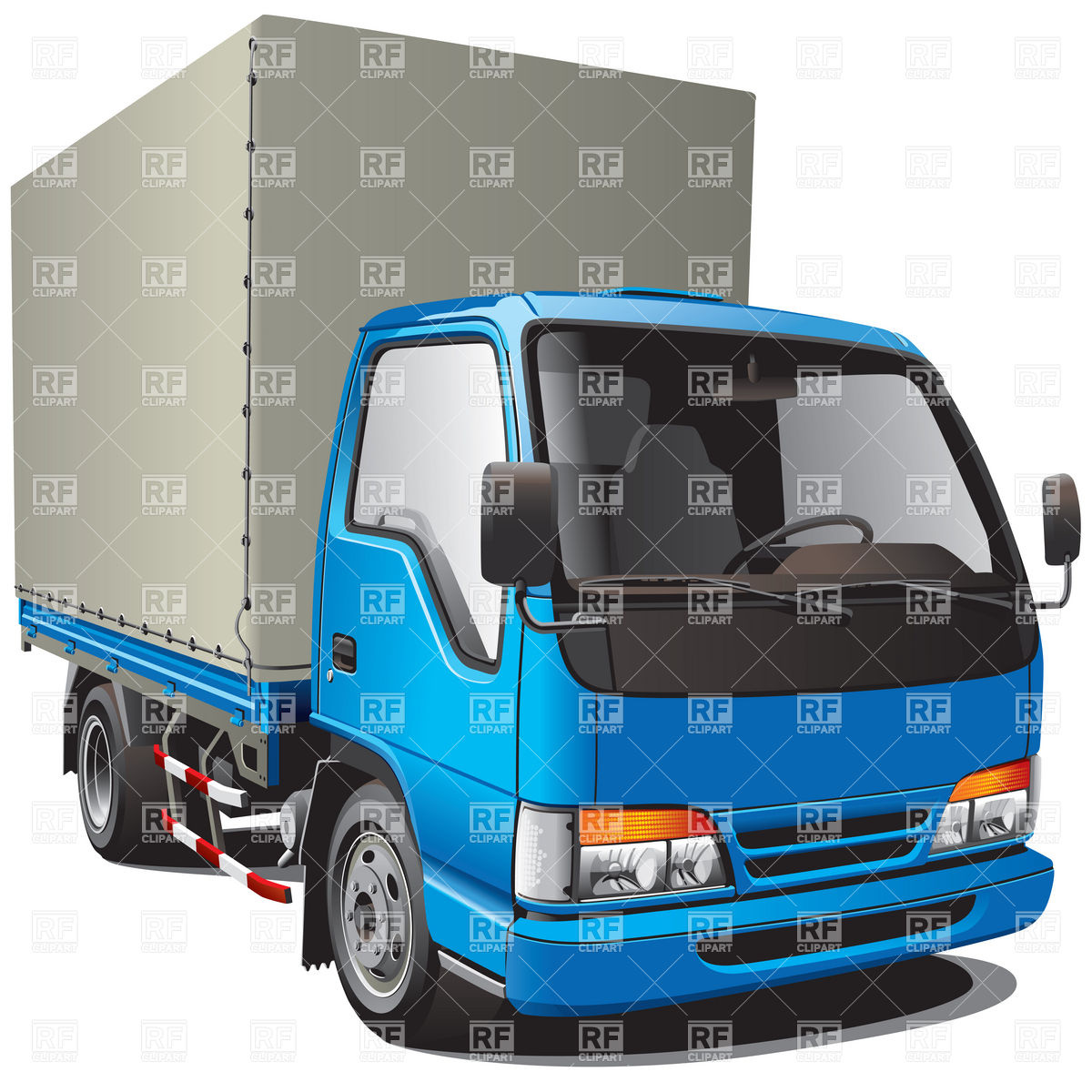 Small Blue Cargo Truck 6240 Download Royalty Free Vector Clipart