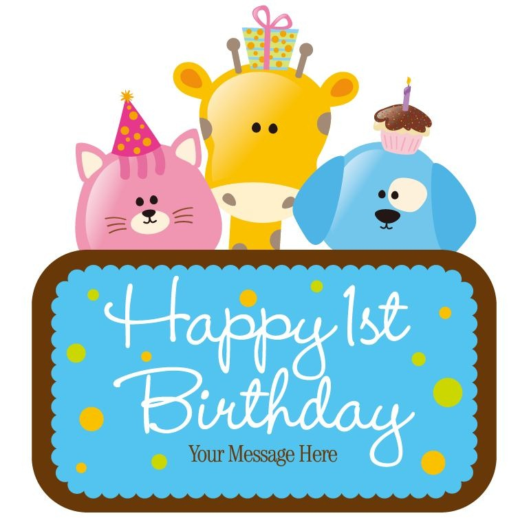 Vector Child Birthday Card   Free Vector Graphics   All Free Web