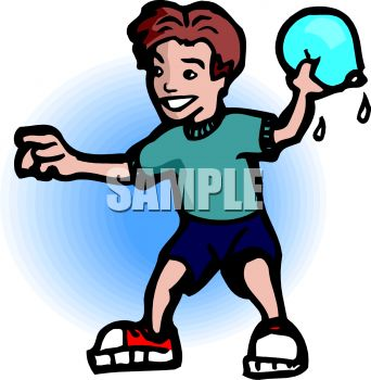 0511 0812 0803 1556 Boy Throwing A Water Balloon Clipart Image Jpg
