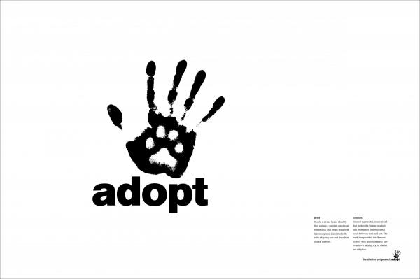 Adopt Logo Animal Shelter Awareness Draftfcb Chicago Ad Council