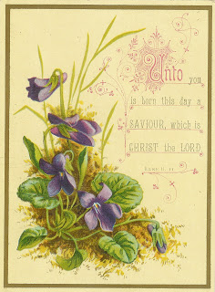 Antique Die Cuts With Religious Scripture And Beautiful Flower Images
