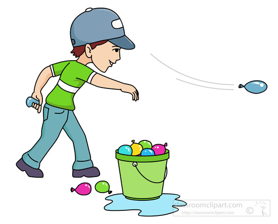 Kid throwing clipart
