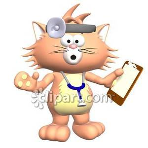 Cat Veterinarian   Royalty Free Clipart Picture