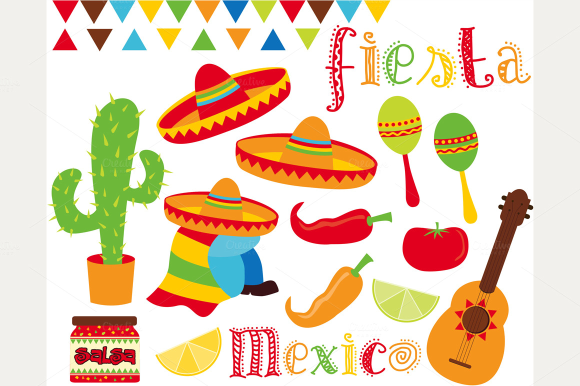 Fiesta Time   Cinco De Mayo   Mexico   Illustrations On Creative