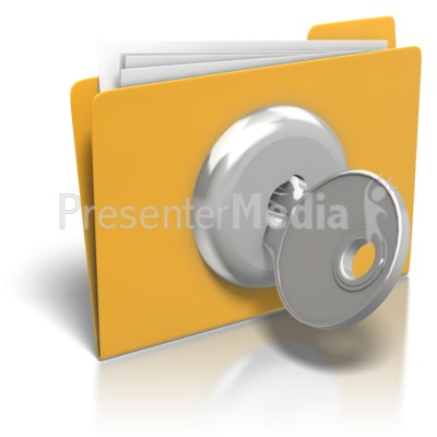 Folder Lock And Key   Presentation Clipart   Great Clipart For