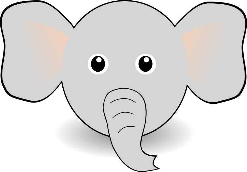 Funny Elephant Face Cartoon By Palomaironique   Funny Little Elephant