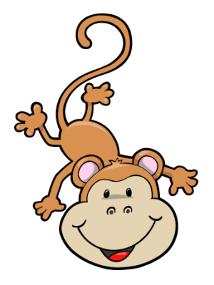 Hanging Monkey Cartoon   Clipart Panda   Free Clipart Images