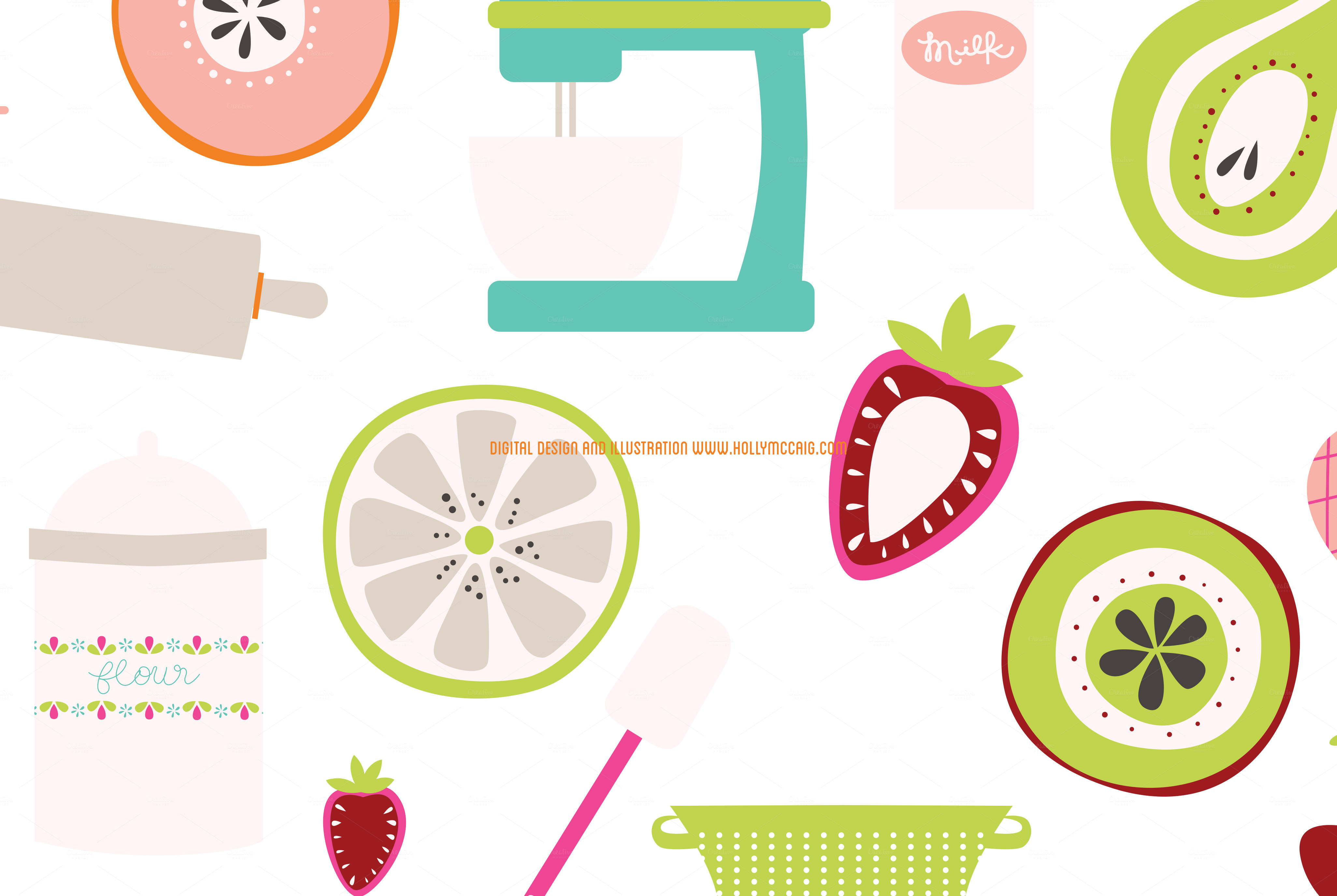 Kitschy Kitchen Png Clip Art   Illustrations On Creative Market