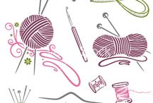 Knitting And Crochet Hooks Needles Yarn Clip Art   Png   Scrapbooking