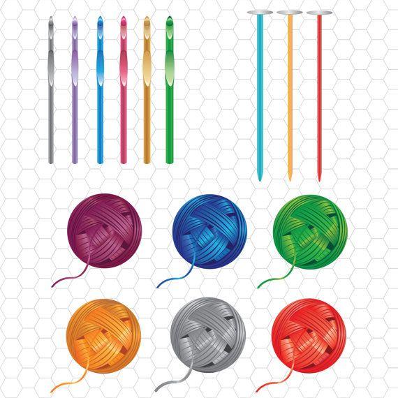 Crochet Hooks Or Knitting Needles Clipart - Clipart Suggest