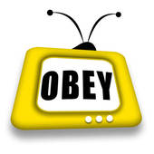 Obey Tv   Royalty Free Clip Art