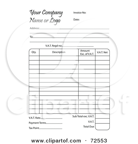 Royalty Free  Rf  Clipart Illustration Of A Business Invoice With