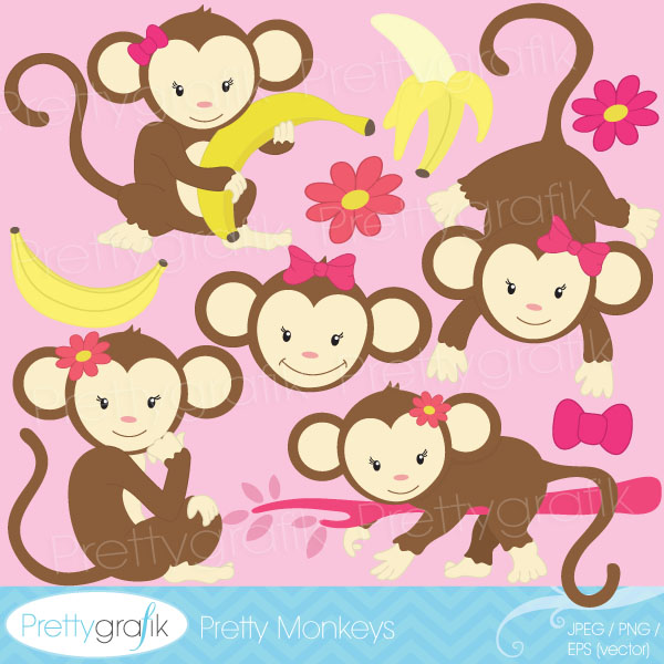 Seivo   Image   Baby Girl Monkey Clip Art   Seivo Web Search Engine