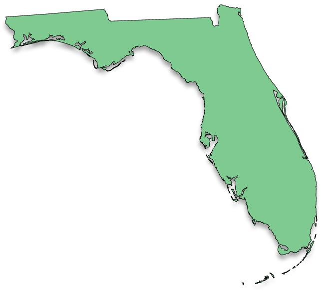 Solid Map Of Florida Map Credit The Florida Center For Instructional