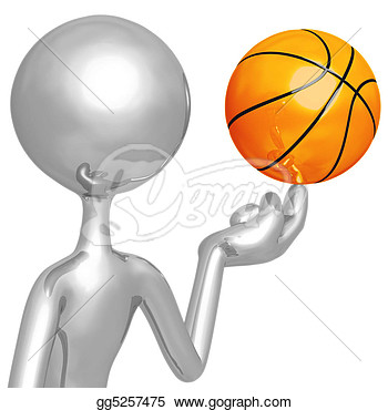 Stock Illustration   Spinning Basketball  Clipart Drawing Gg5257475