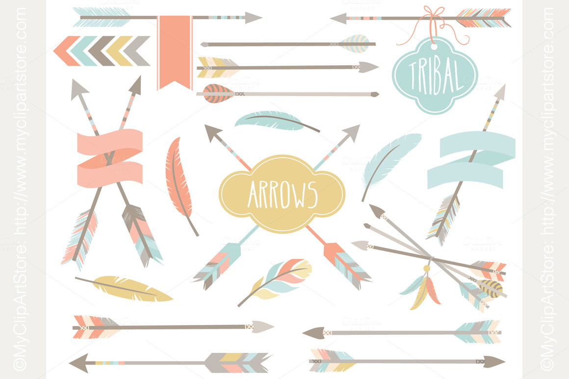 Tribal Arrows   Hipster   Illustrations On Creative Market