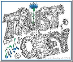 Zantangle  Art W Words On Pinterest   Zentangle Doodles And Lettering