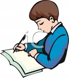 Do my homework clipart