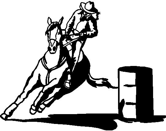 Barrel racer racing clipart clipart suggest for Coloring pages of horses barrel racing