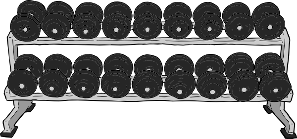 Dumbbell Rack Clip Art At Clker Com   Vector Clip Art Online Royalty