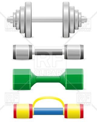 Dumbbells For Fitness 19313 Download Royalty Free Vector Clipart
