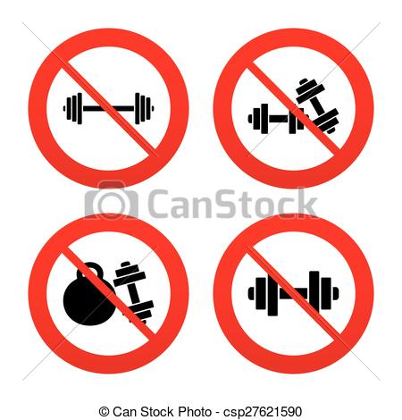 Vector   Dumbbells Icons  Fitness Sport Symbols    Stock Illustration