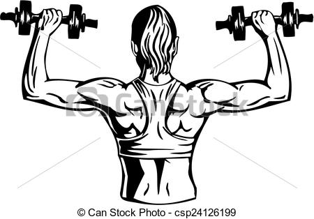 Vector   Woman With Dumbbells   Fitness  Vector Illustration    Stock