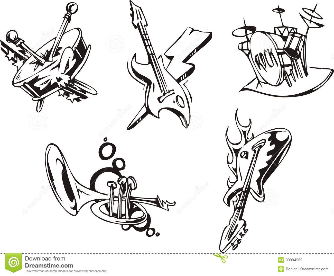 Band Instruments Clipart Musical Instruments
