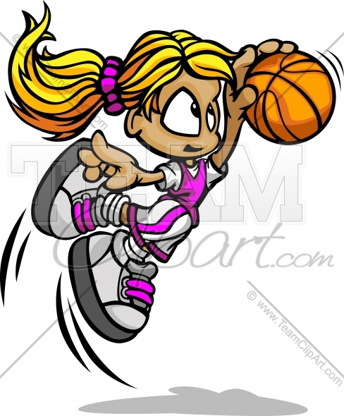 Basketball Girls Clipart   Jobspapa Com
