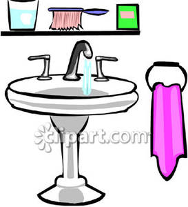 Bathroom Sink Cliparta Bathroom Sink Royalty Free Clipart Picture Home