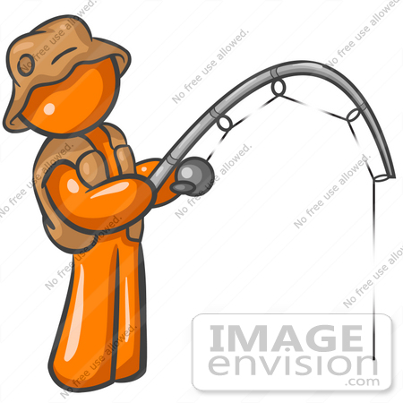 Bent Fishing Rod Clipart