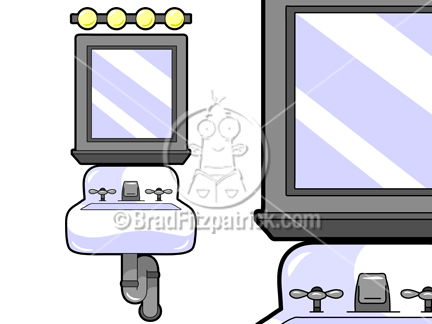 Cartoon Vanity Illustration   Royalty Free Vanity Stock Illustration