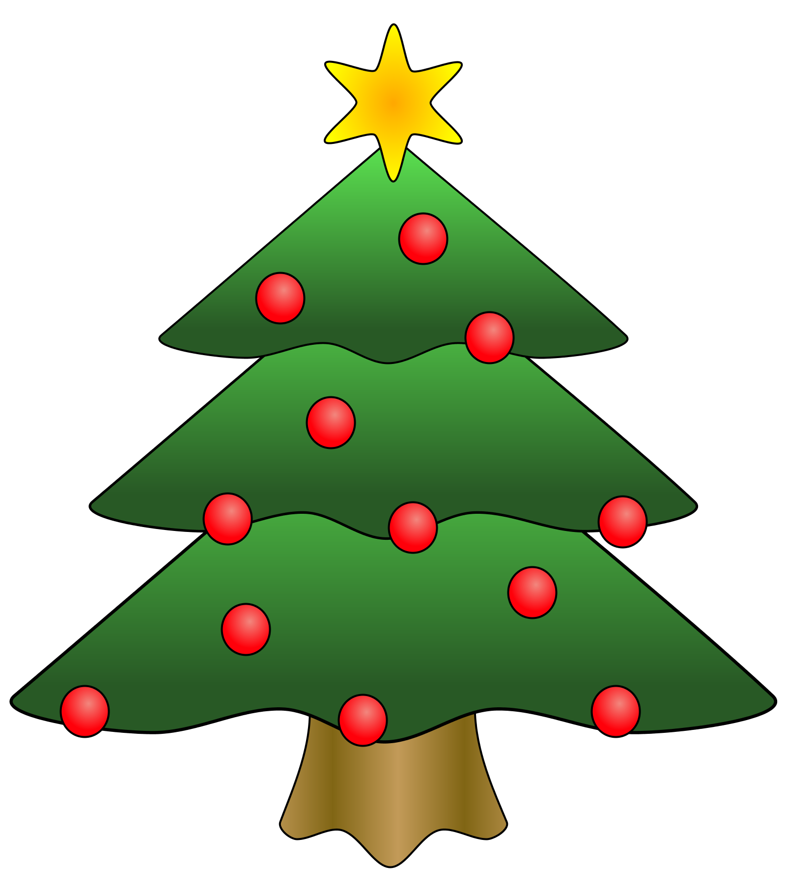 Christmas Tree Clip Art   Clip Art Christmas Tree   Free Christmas